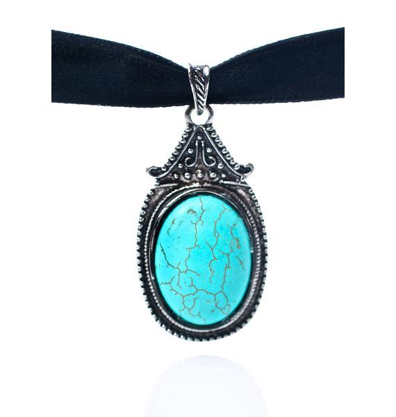 Rock n Rose Zaria Turquoise Gemstone Choker