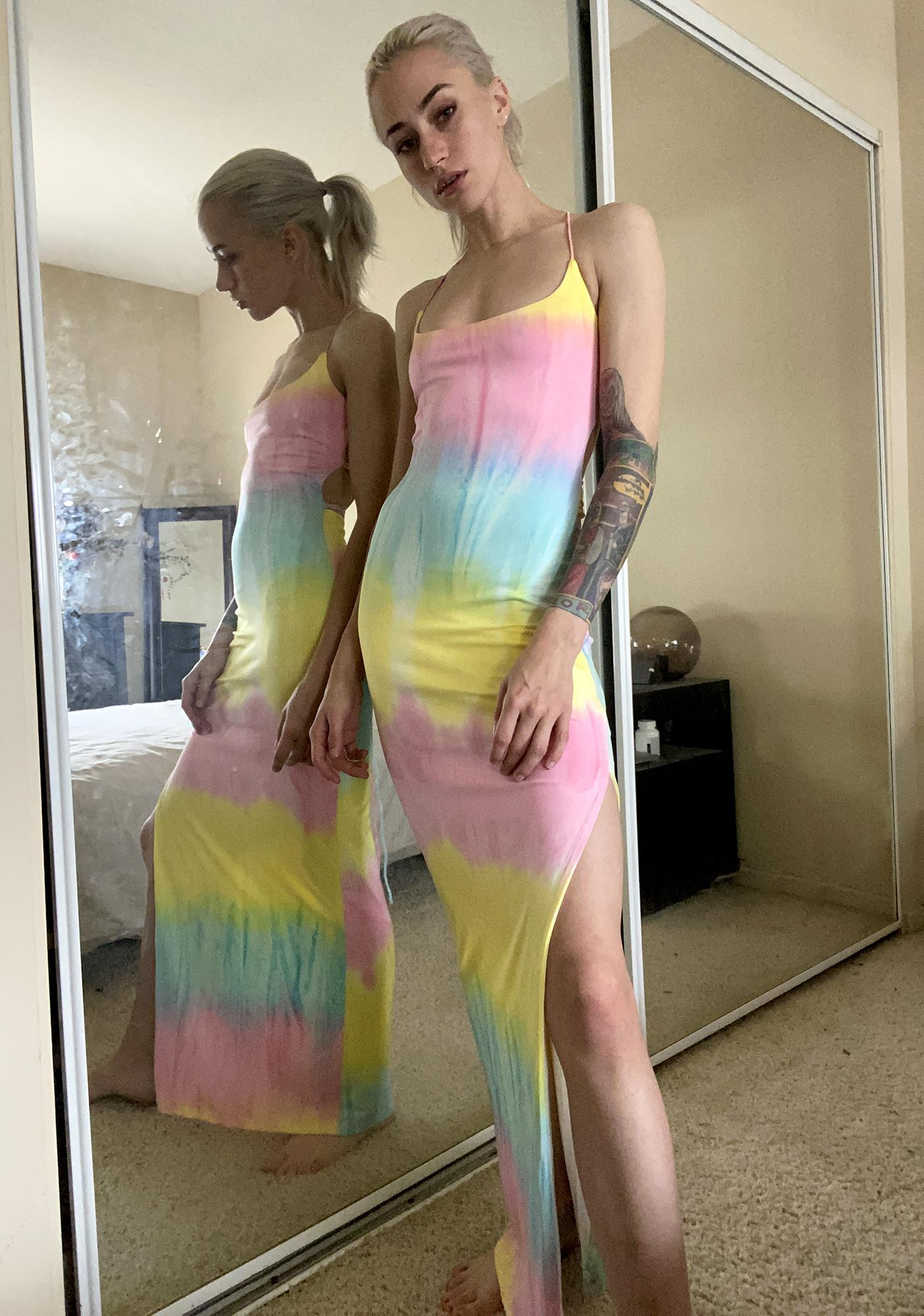 Sherbert Sunset Tie Dye Dress