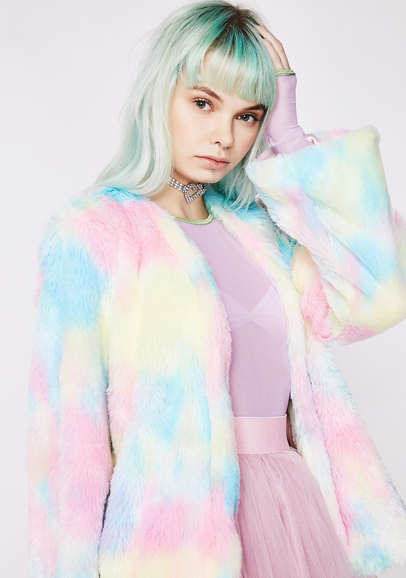 Sugar Thrillz Candy Craving Fluffy Coat