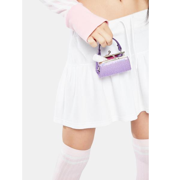 Sparkl Lilac Holographic Mini Purse