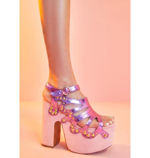 Sugar Thrillz Armed With Charm Butterfly Heels