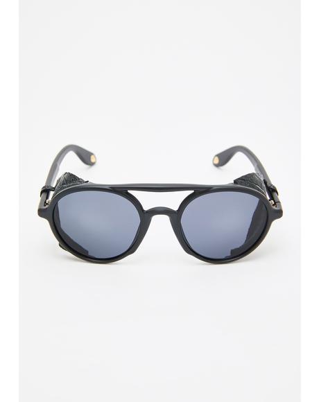 Evil Gargoyle Round Sunglasses