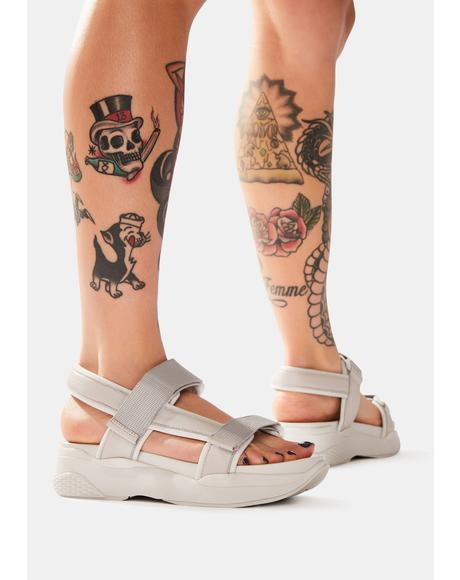 Steel Lori Leather Platform Sandals