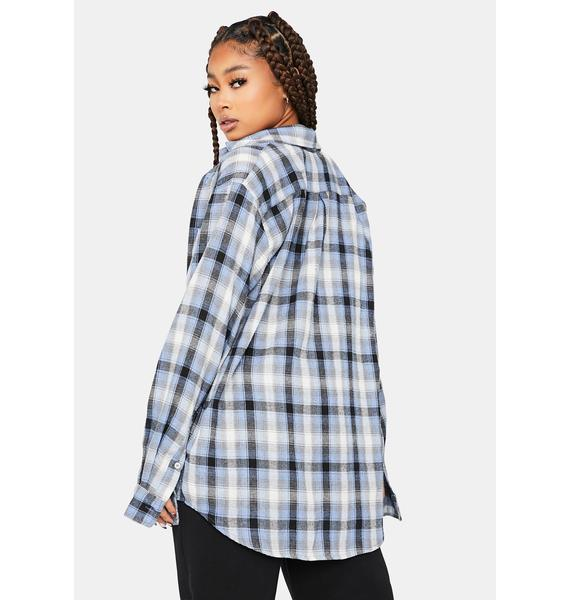 Cool Drama Diaries Long Sleeve Flannel Shirt