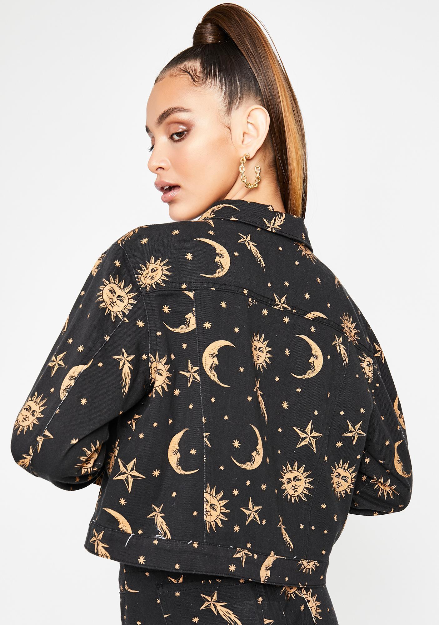 HOROSCOPEZ Walk The Moon Denim Jacket