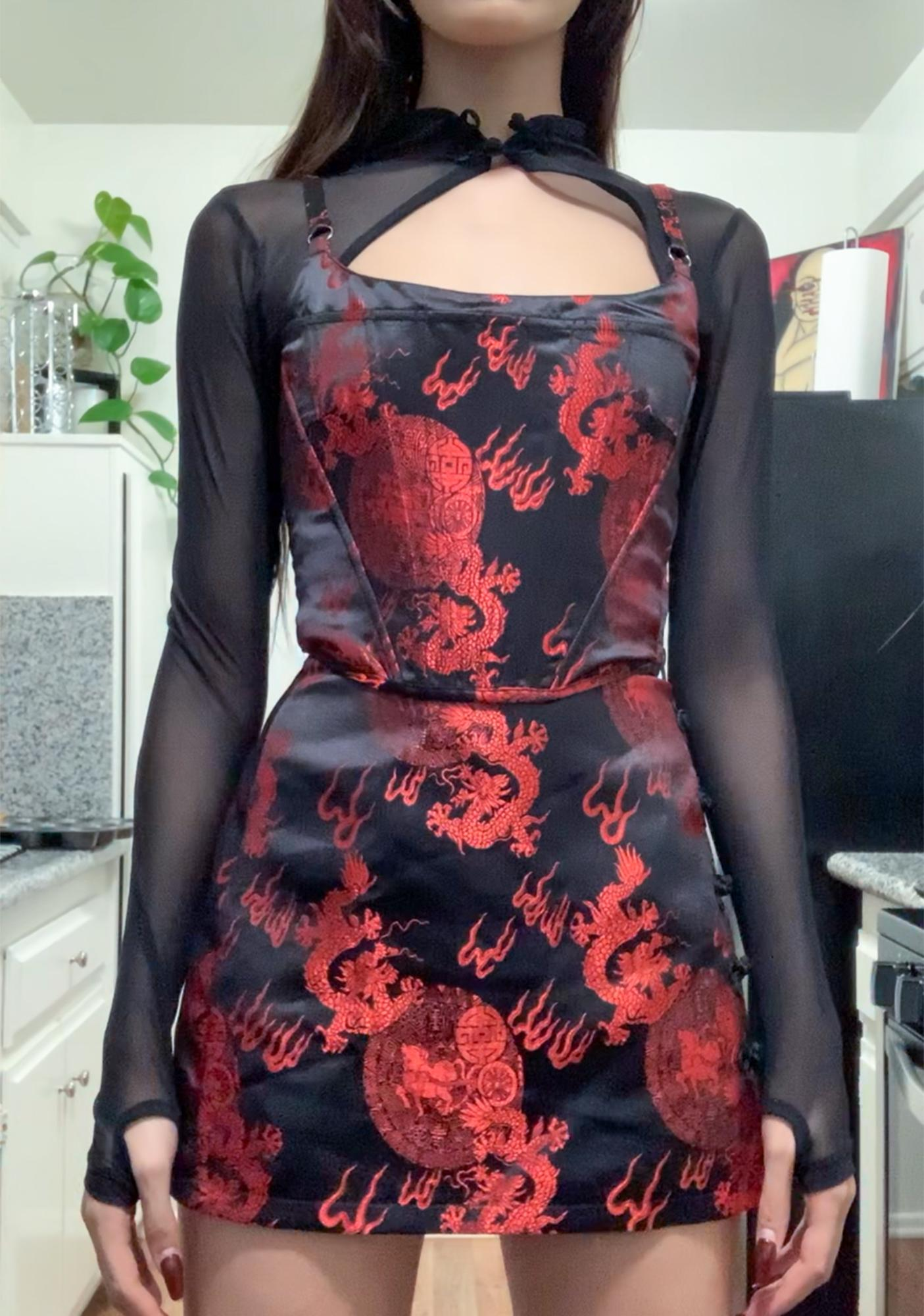 Current Mood Dragon's Den Brocade Skirt