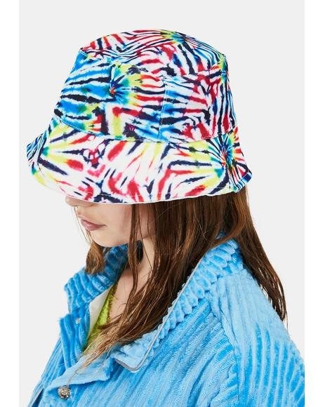 This Kiss Tie Dye Bucket Hat