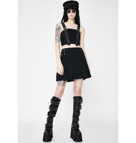 The Ragged Priest Control Buckle Crop Top