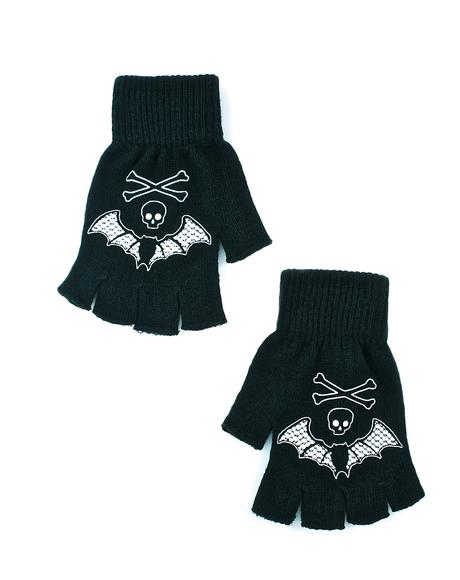 Bat Lace Fingerless Gloves