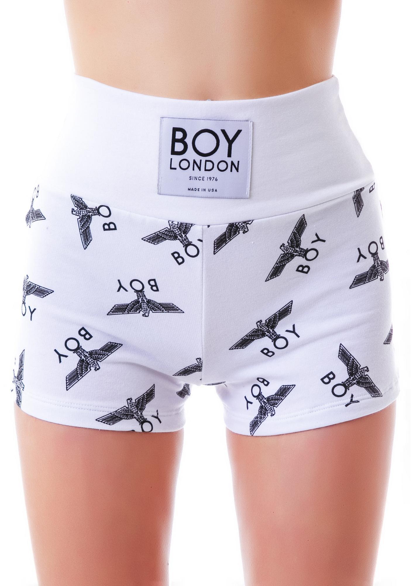 BOY London Allover Eagle BOY Hot Pants