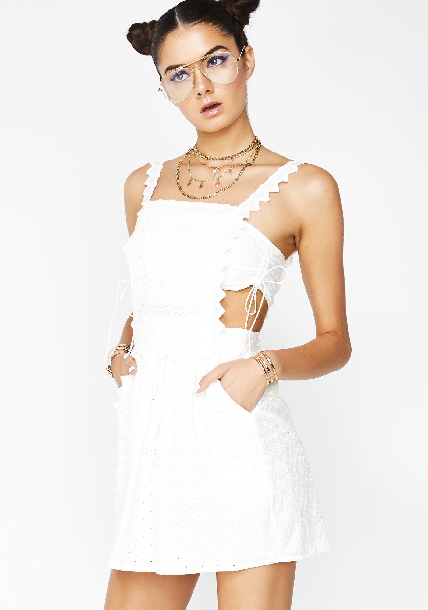 9c358750988 ... For Love   Lemons Charlotte Eyelet Overalls Mini Dress ...