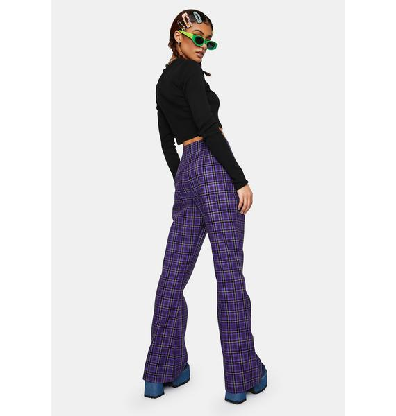 The Ragged Priest Unify Plaid Flare Pants