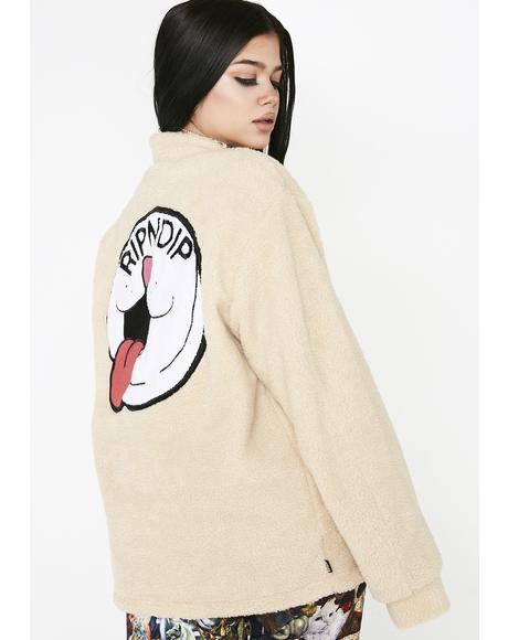 Pill Sherpa Varsity Jacket