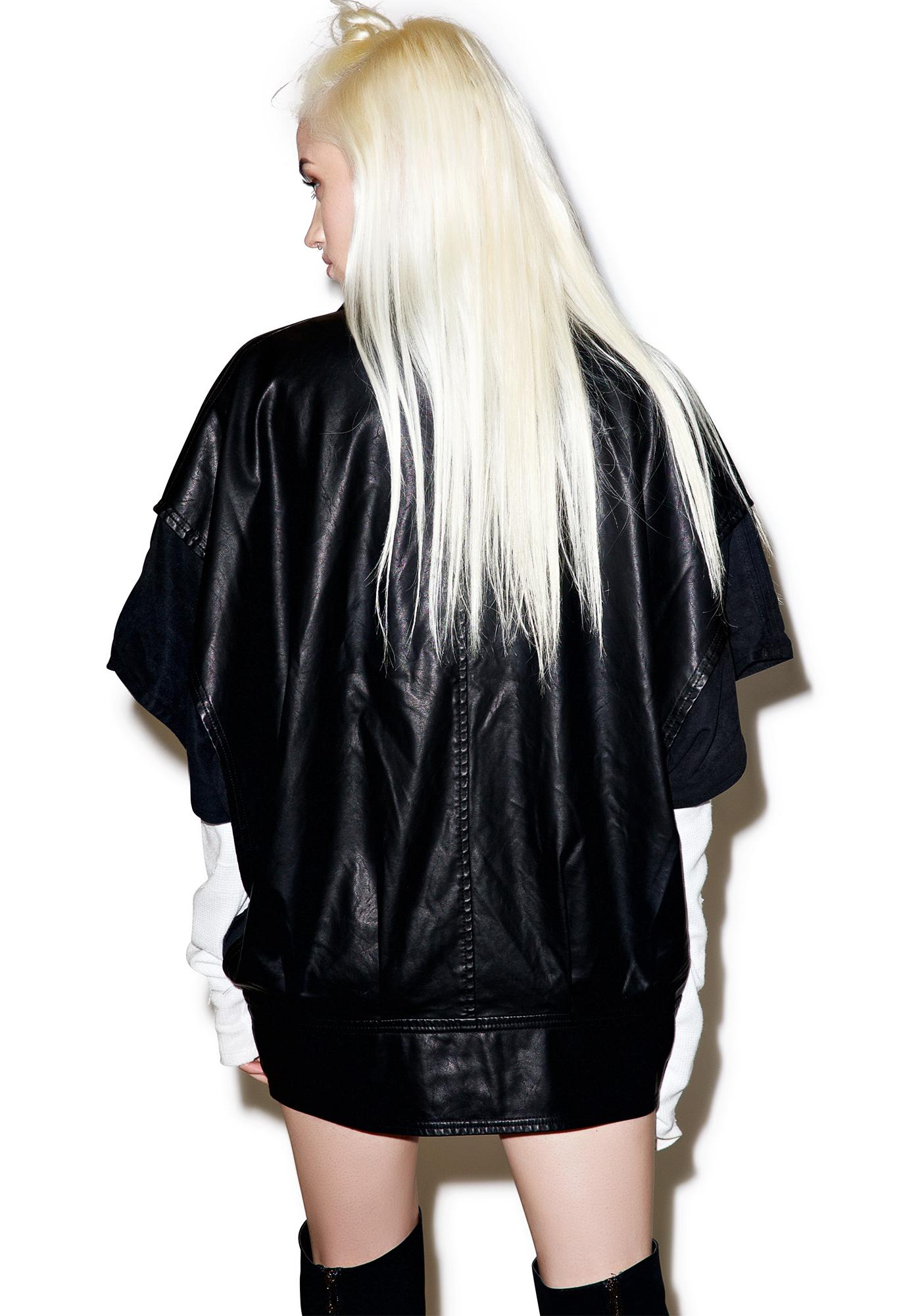 Widow Cold War Oversized Vegan Leather Jacket