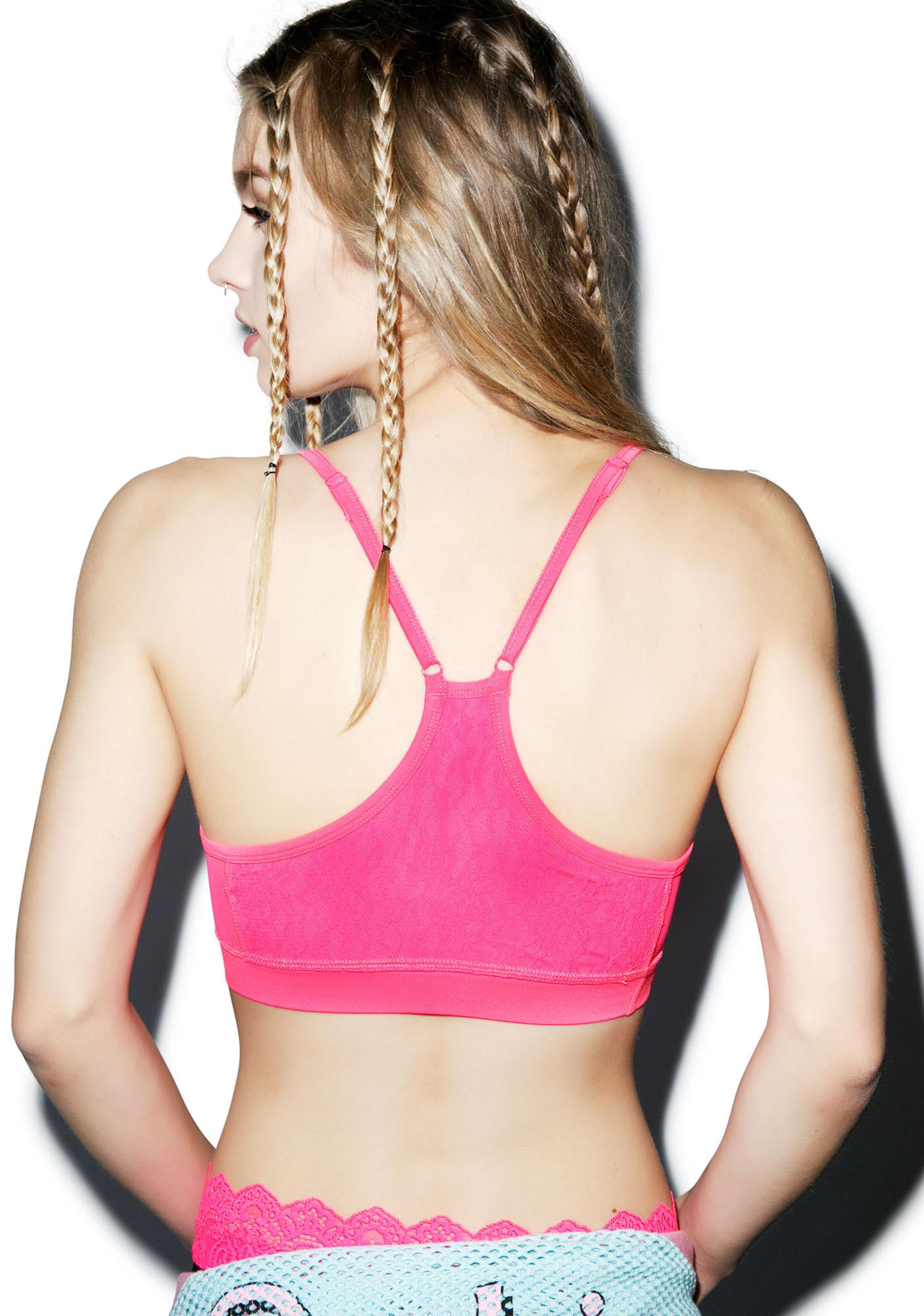Fancy Schmancy Lace Sports Bra