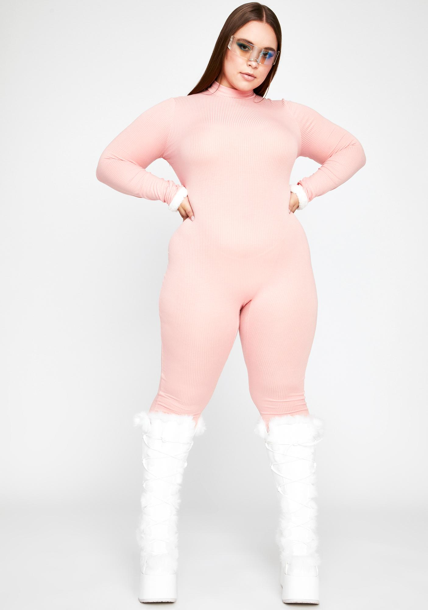 Baby U Can't Fight It Ribbed Catsuit