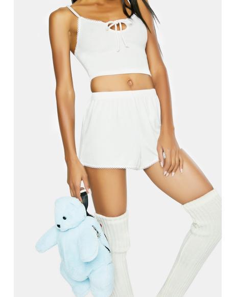 White Day Drifter Lounge Shorts