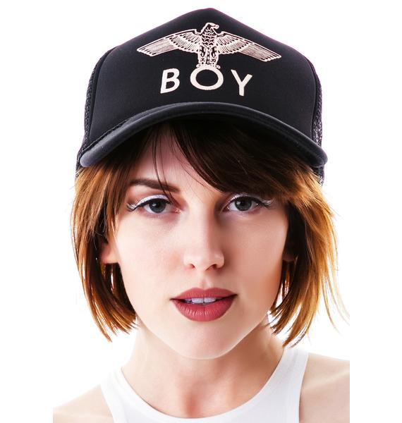 BOY London BOY Eagle Emblem Classic Trucker Cap
