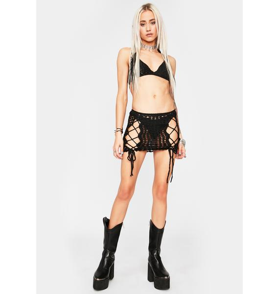 Gonna Get Rowdy Lace Up Skirt