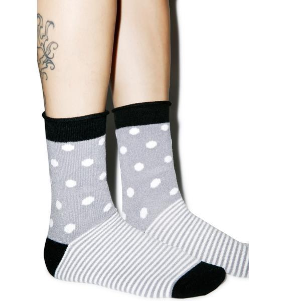 Plush Half N' Half Fleece Socks