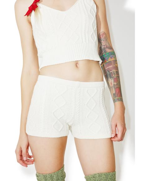 Tight Knit Cable Boyshorts