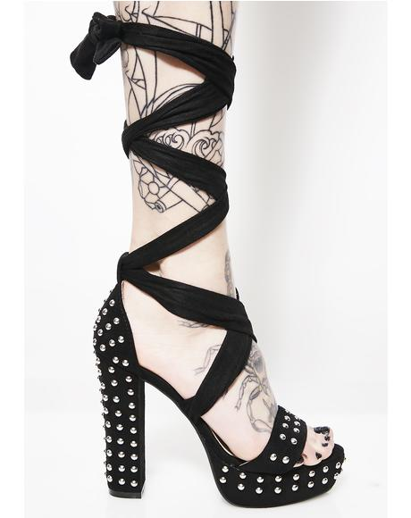 Twisted Mind Studded Heels