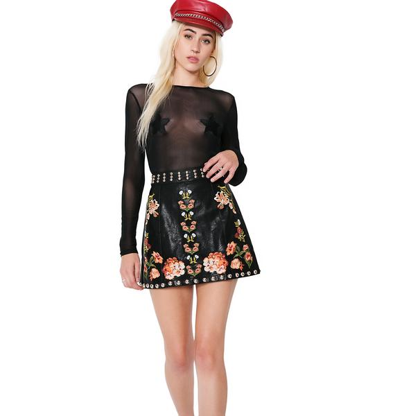 Primrose Punk Studded Mini Skirt