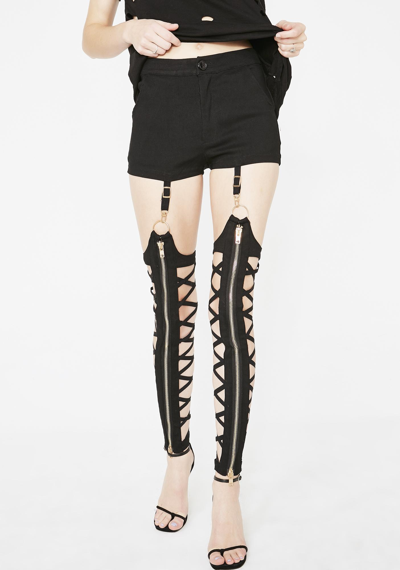 Hardcore Diva Garter Leggings