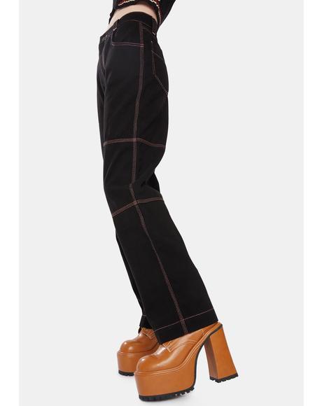 Noir Paneled Utility Trouser