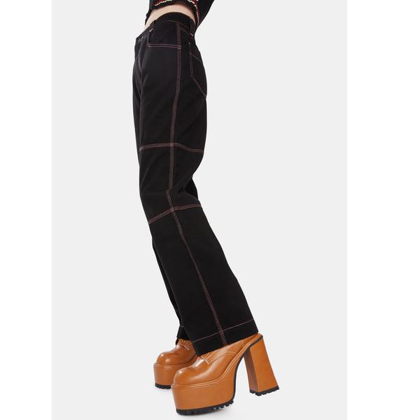 Kickers Noir Paneled Utility Trouser