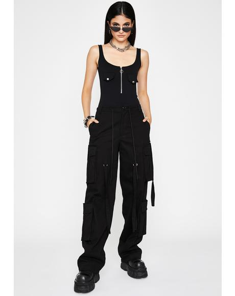 Street Ruler Zip-Up Bodysuit