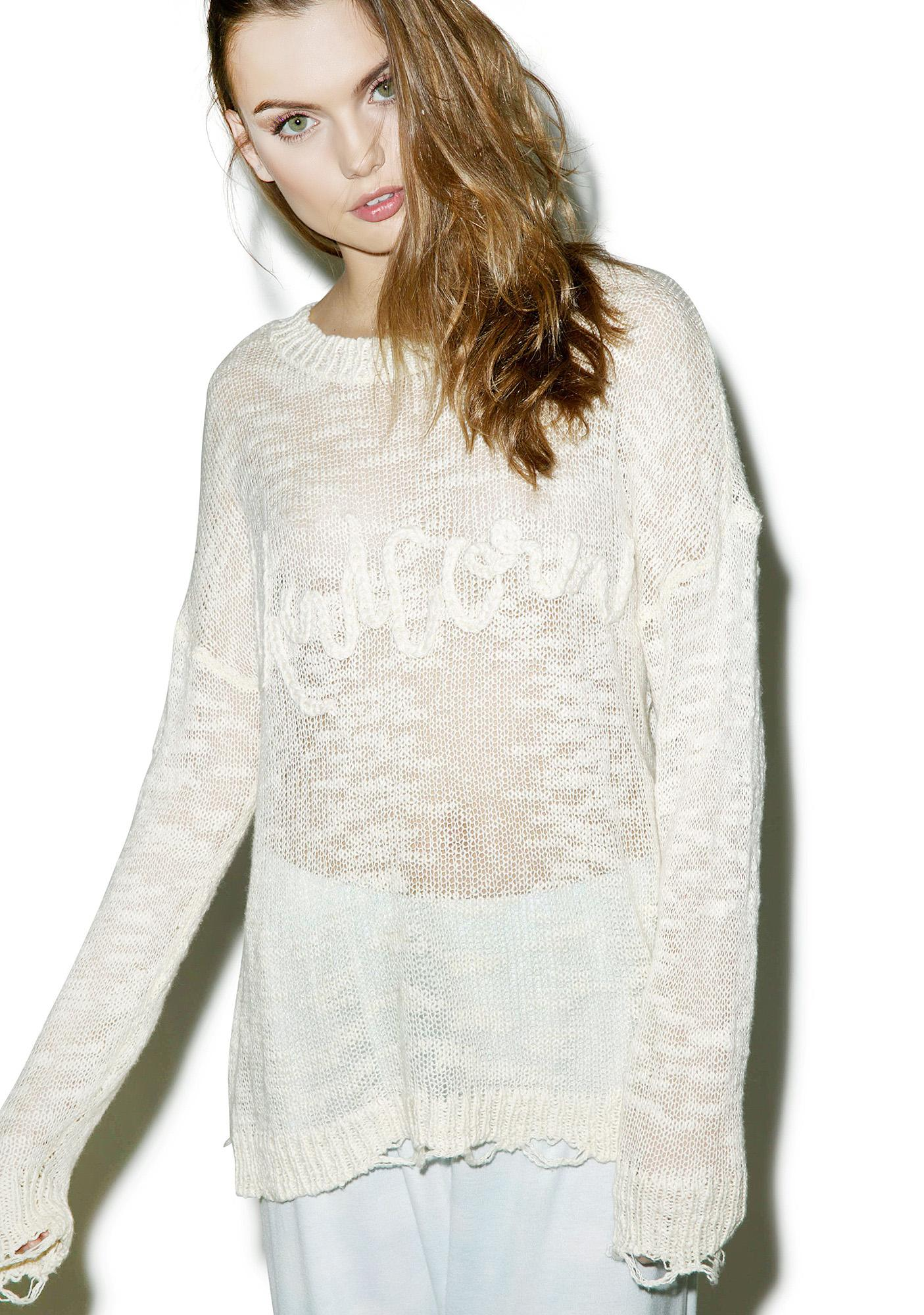 Wildfox Couture Unicorn Dream Carlotta Sweater