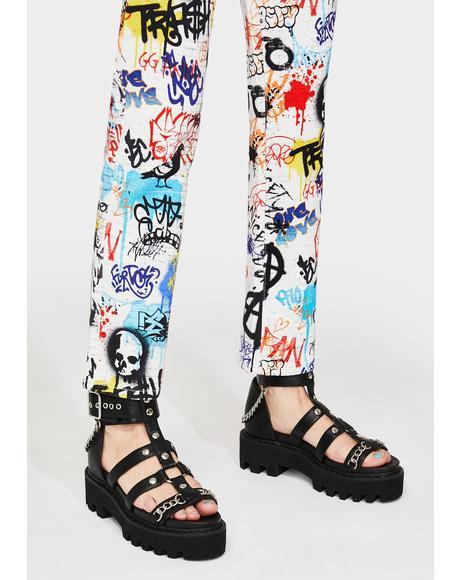 Risk Taker Platform Sandals