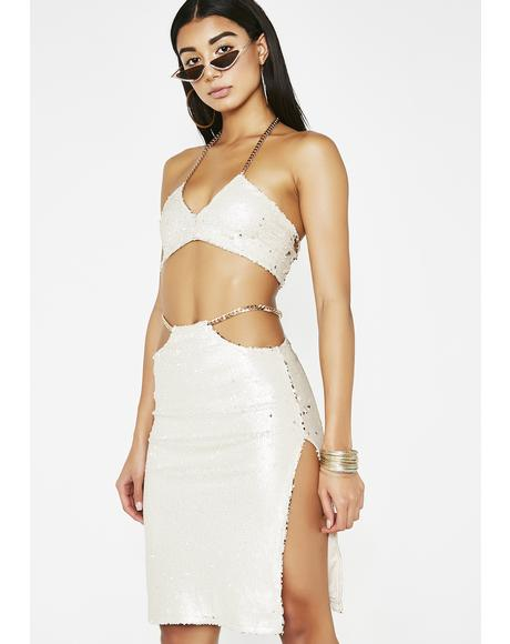 Gold Standard Sequin Skirt