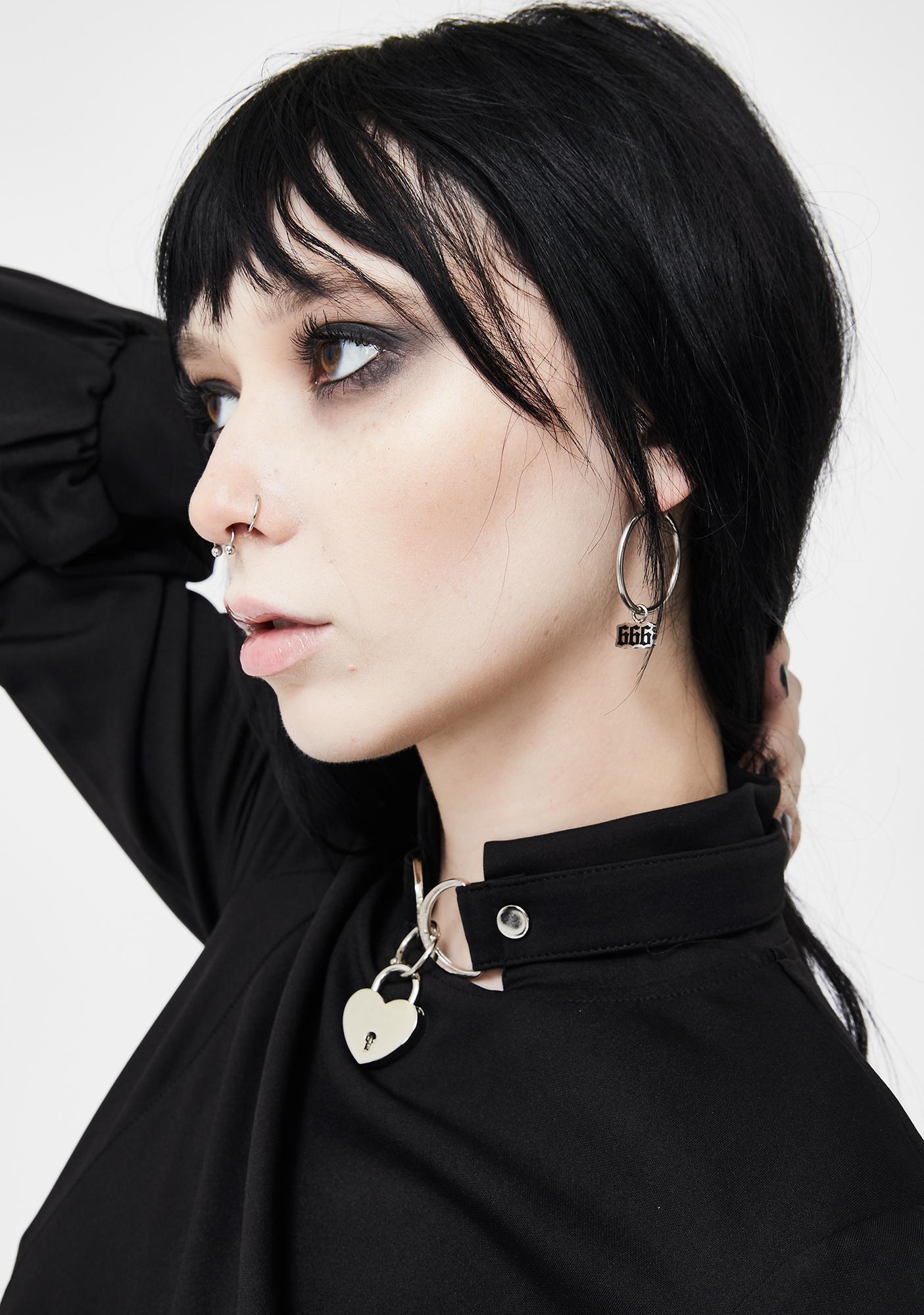Mysticum Luna 666 Charm Earrings