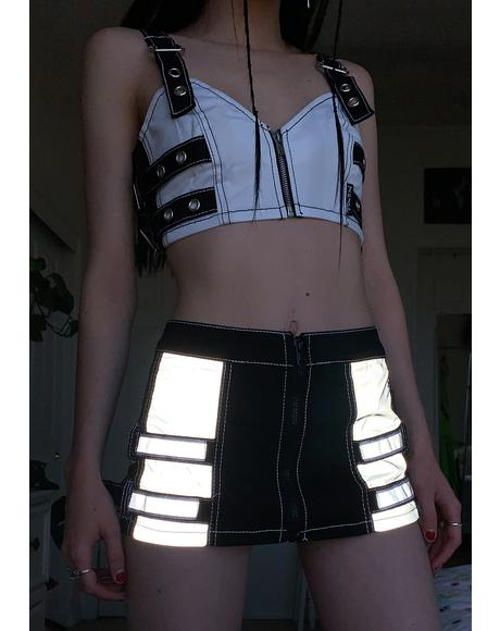 Reflector Mini Skirt
