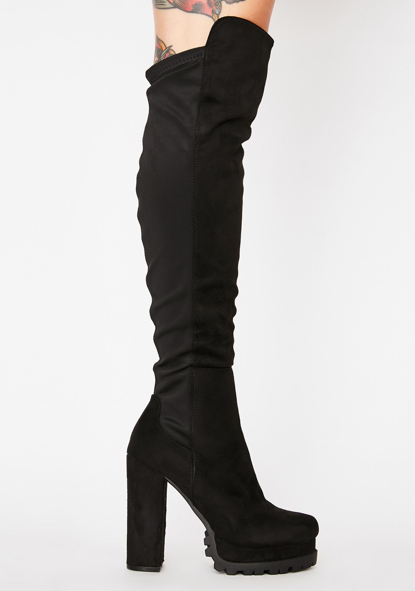 Riding Rowdy Platform Boots by