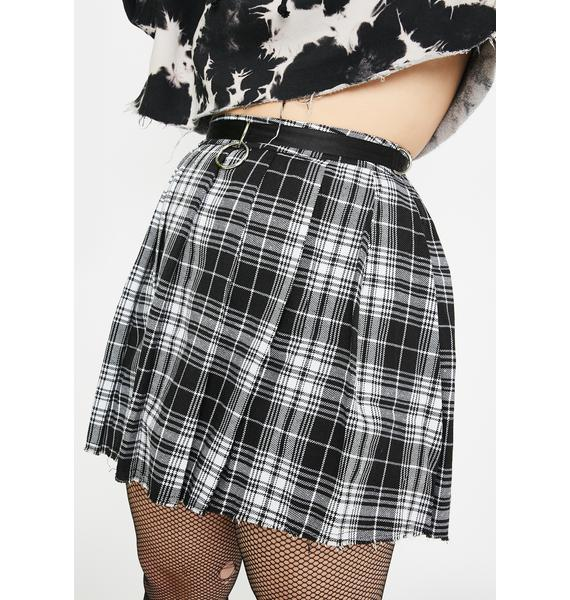 Current Mood Pretty Wicked Dress Code Plaid Skirt