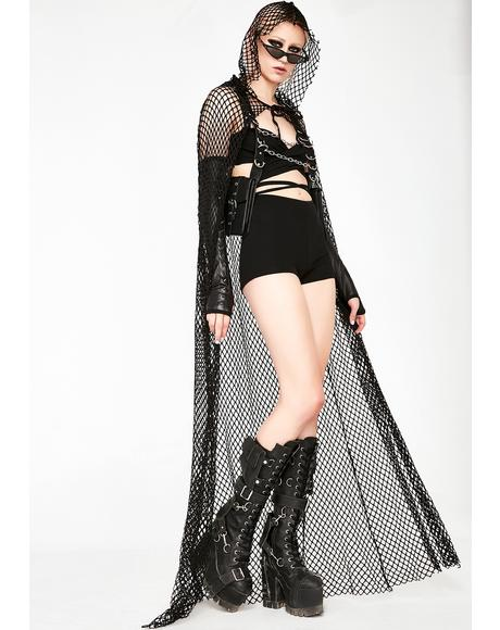 Slick Chick Fishnet Cape