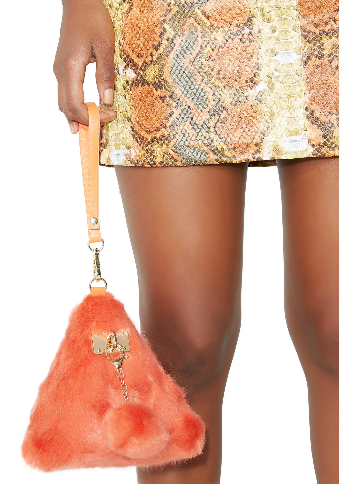 Triple Threat Fuzzy Wristlet