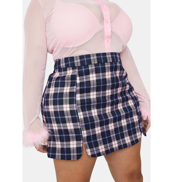 Sugar Thrillz Love Stories In My Mind Plaid Mini Skirt
