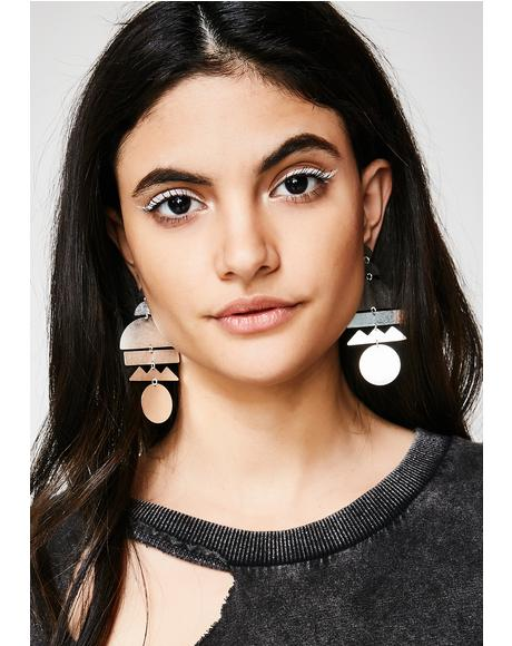 Mix It Up Geometric Earrings