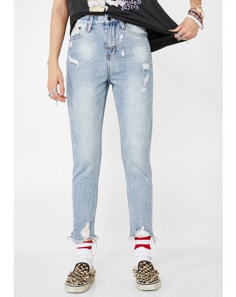 Indigo High Waist Mum Jeans