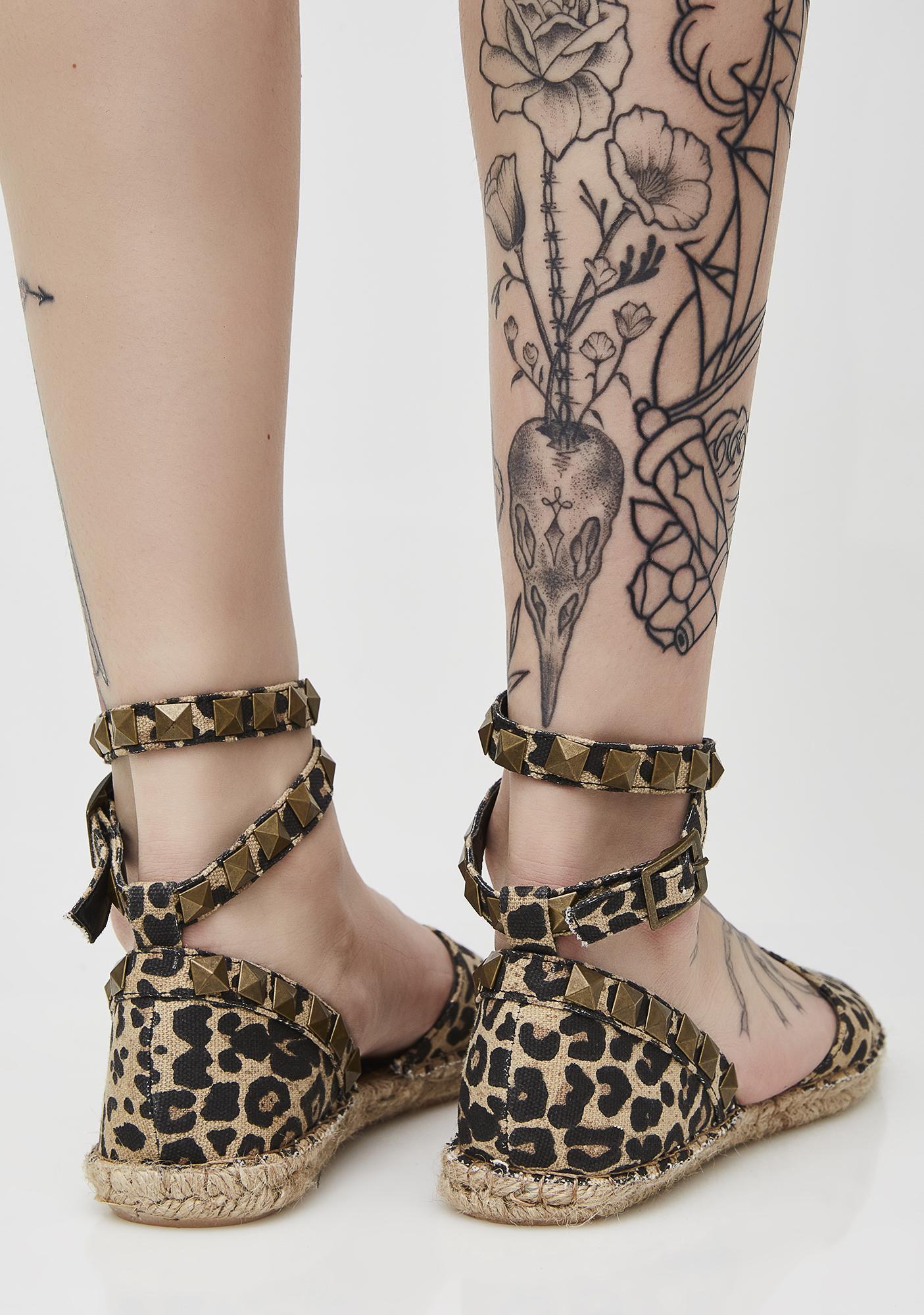 Y.R.U. Mandy Leopard Flats