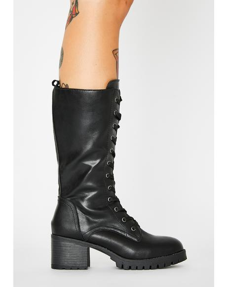 Cold Revenge Lace Up Boots