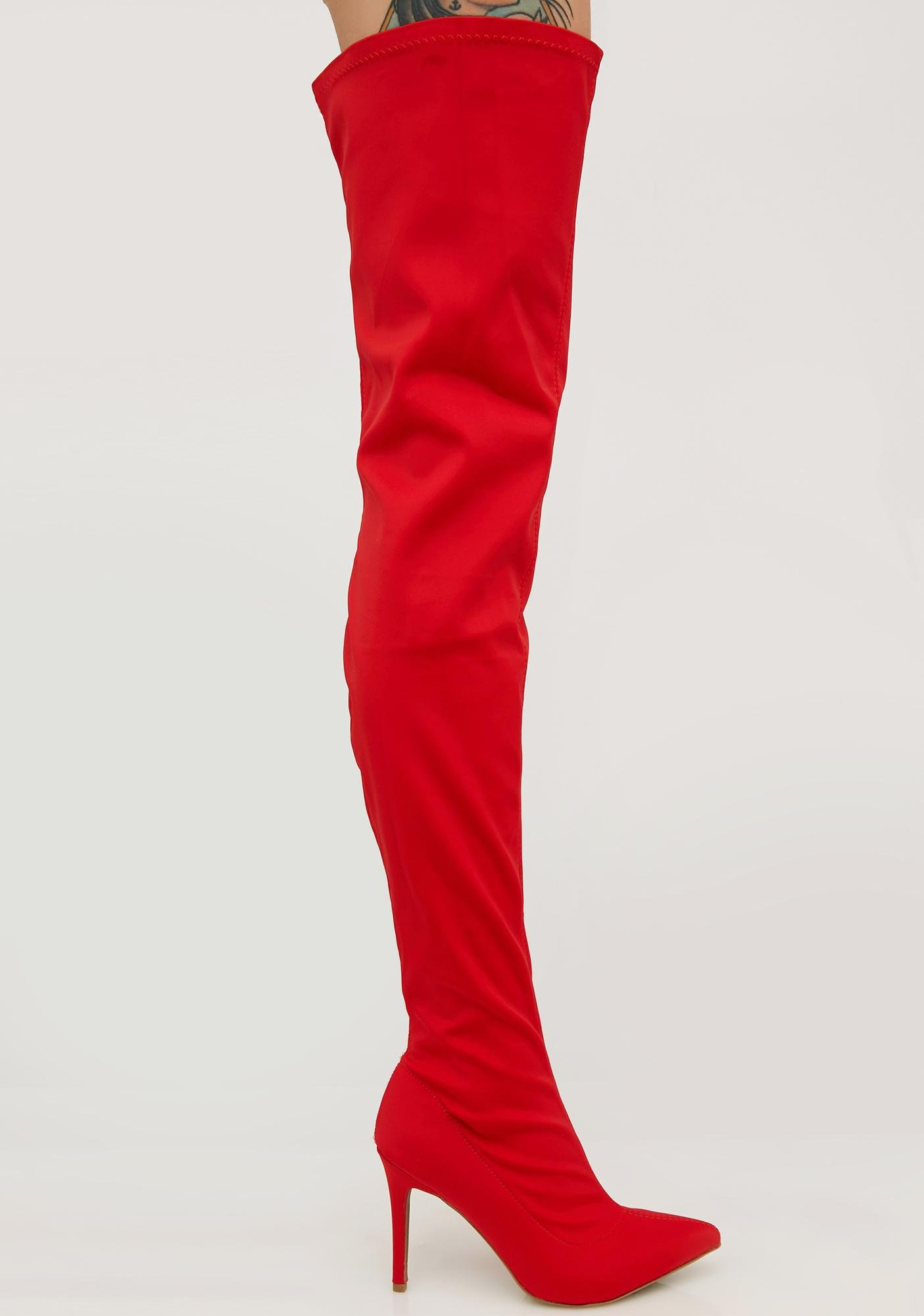 6f33803bcd4 Akira Over The Knee Boots
