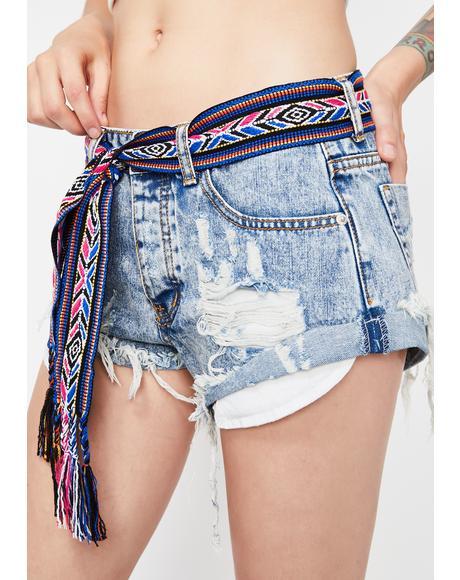 Desert Charmer Belted Shorts