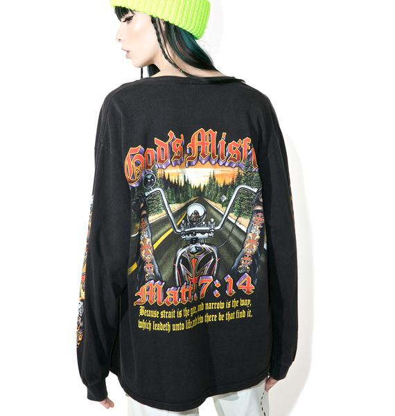 Vintage God's Misfits Biker Gang Long Sleeve Tee