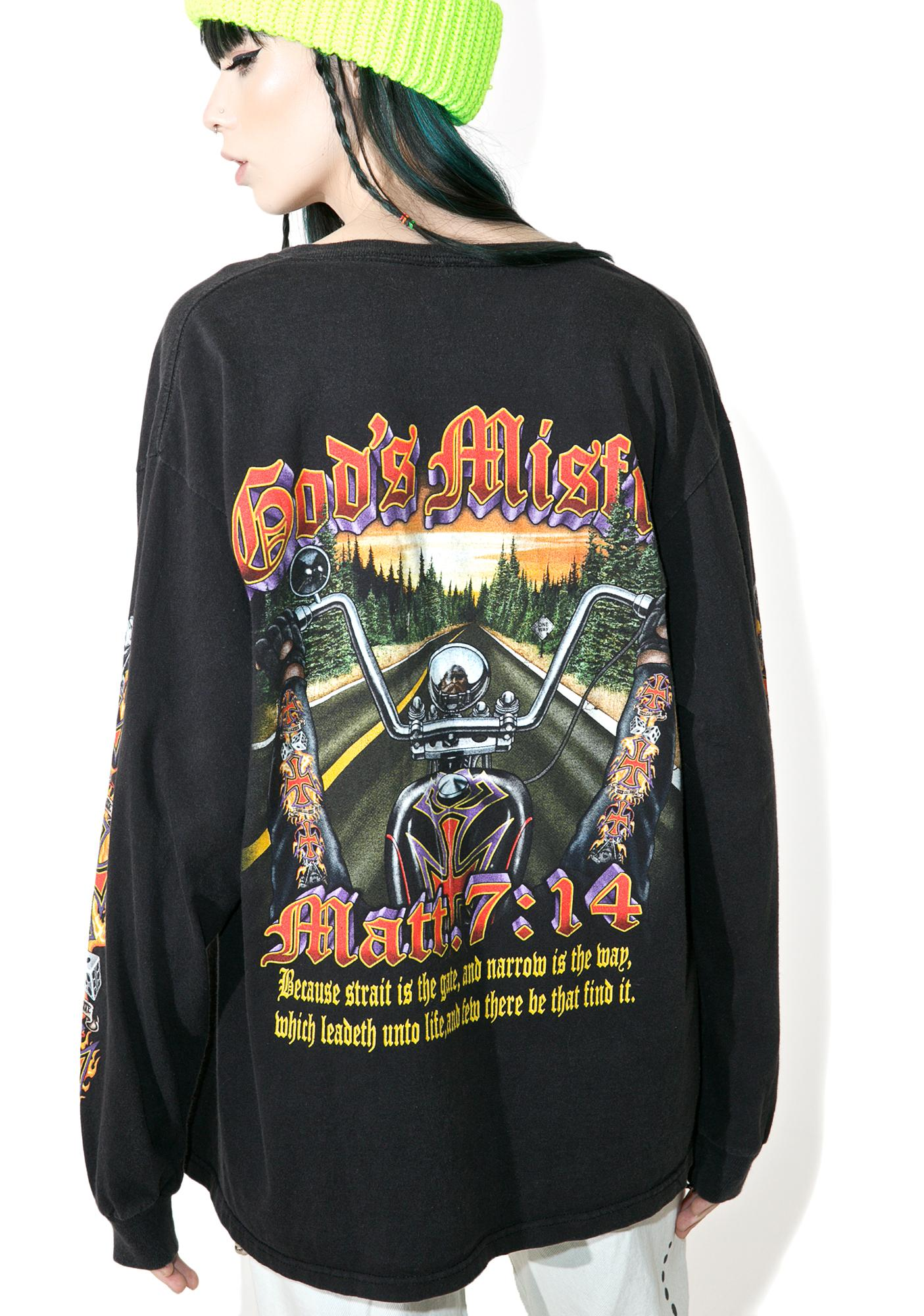 Vintage God's Misfits Biker Gang Long Sleeve Tee
