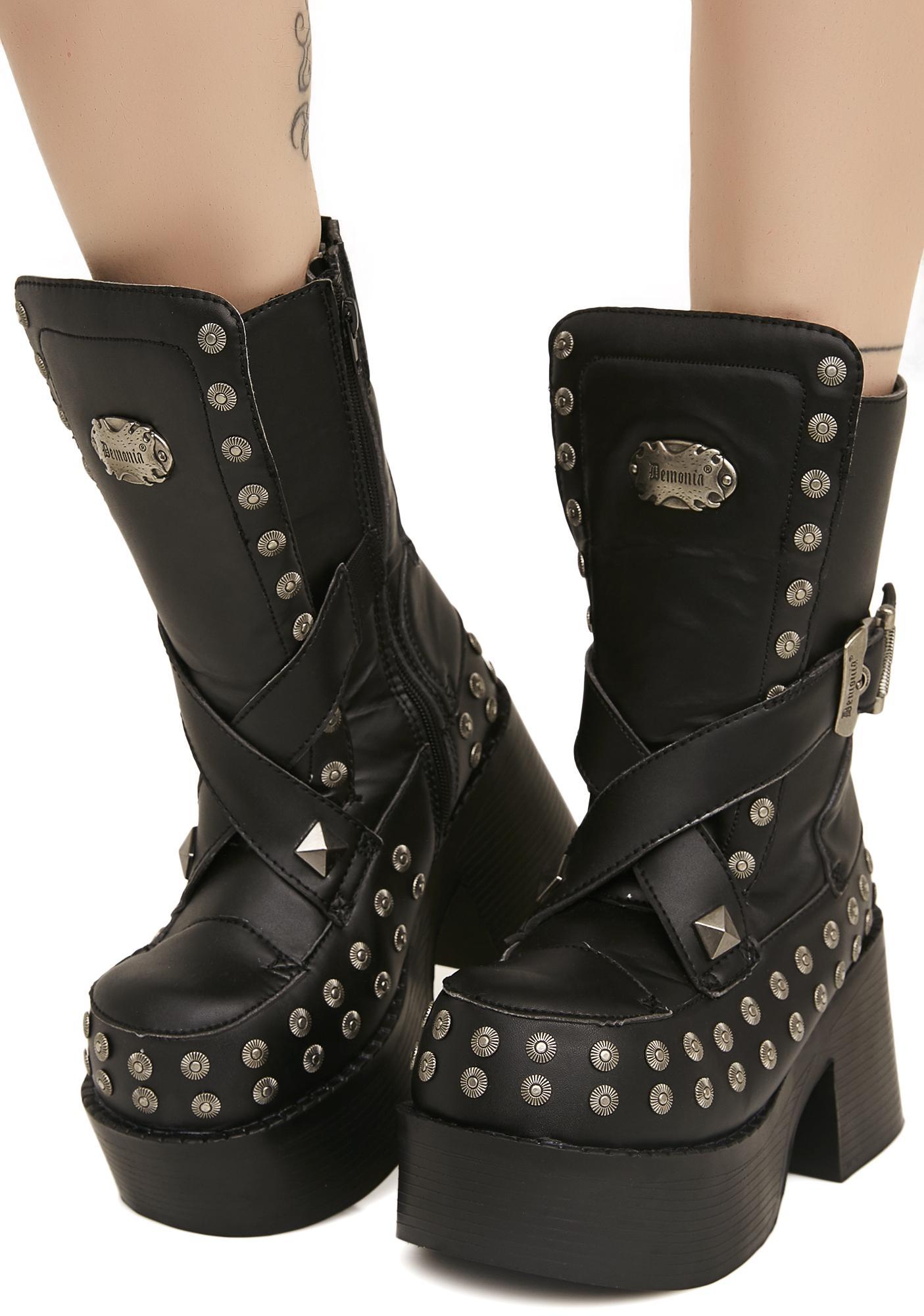 Demonia Platoon Platform Boots